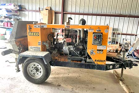 2018 Reed A40hpConcrete Trailer Pump