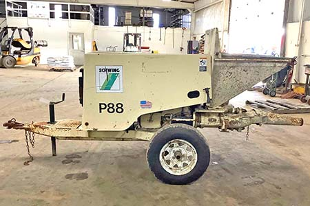 1997 Schwing P-88 Concrete Trailer Pump